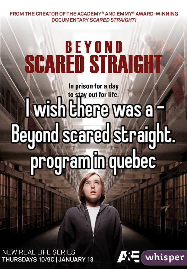 the beyond scared straight program