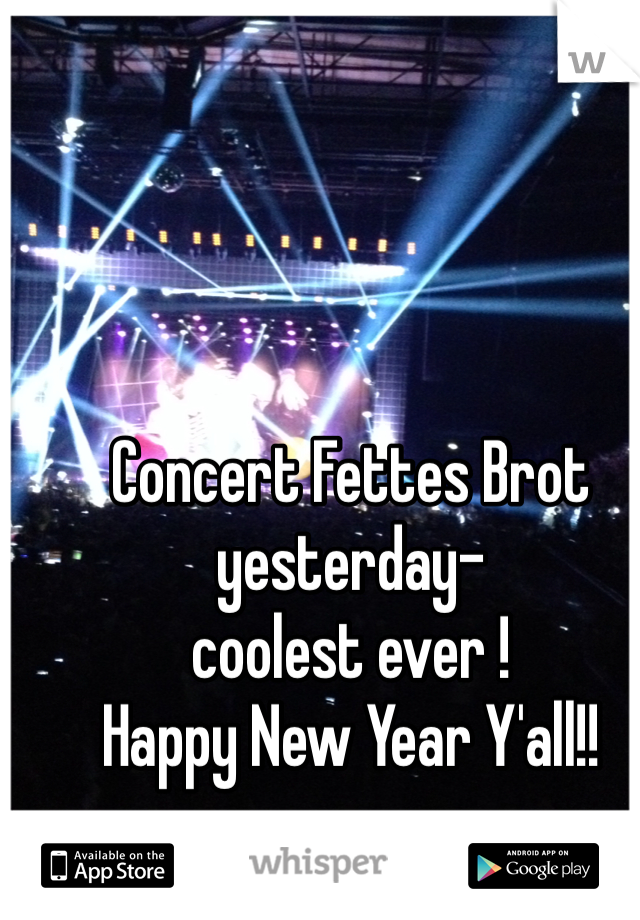 Concert Fettes Brot yesterday-  coolest ever ! Happy New Year Y'all!!