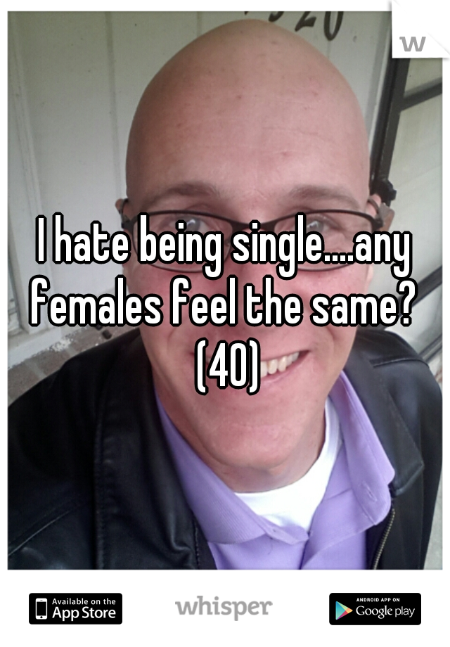 I hate being single....any females feel the same?  (40)