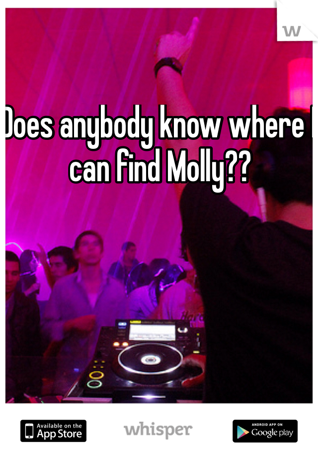 Does anybody know where I can find Molly??