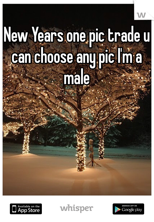 New Years one pic trade u can choose any pic I'm a male