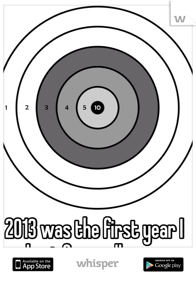 2013 was the first year I kept focus all year.