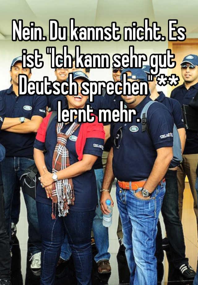 Wie kann man deutsch sprechen