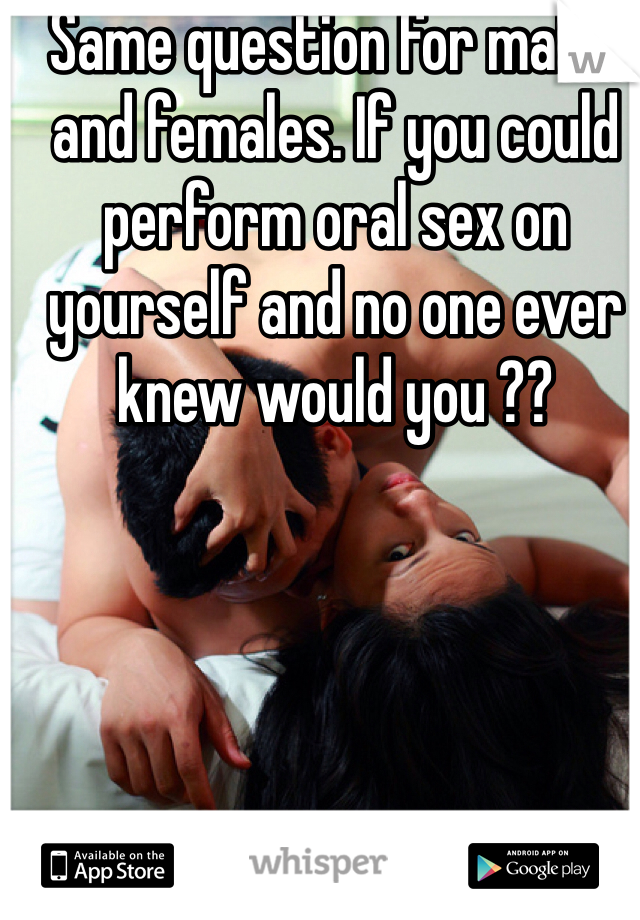 How to perform oral sex on yourself