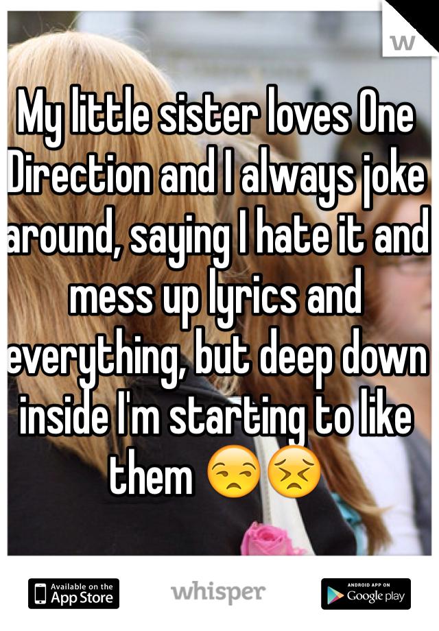 my little sisters jokes