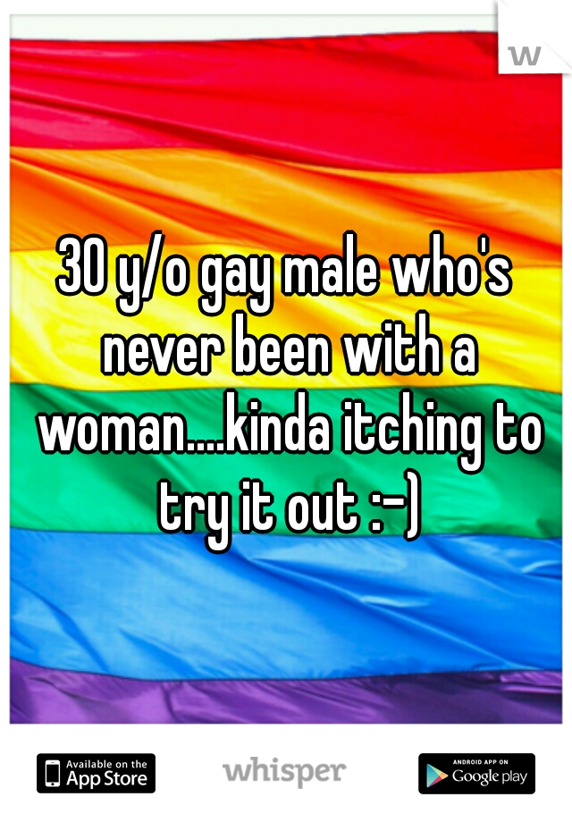30 y/o gay male who's never been with a woman....kinda itching to try it out :-)