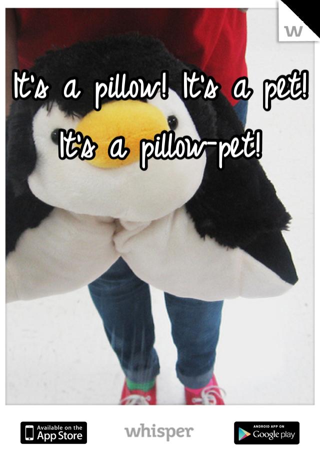 It's a pillow! It's a pet! It's a pillow-pet!