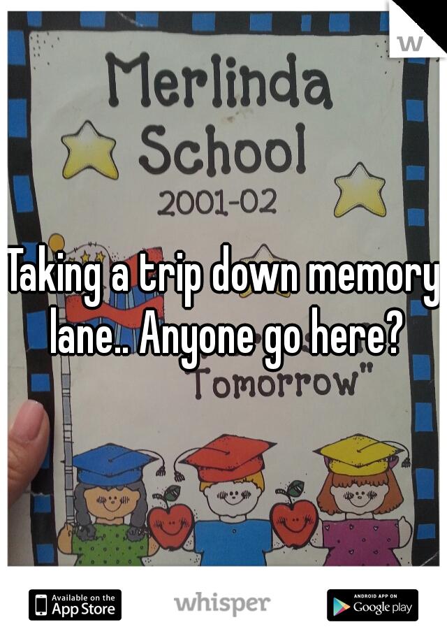 Taking a trip down memory lane.. Anyone go here?