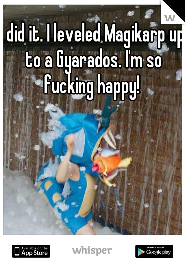 I did it. I leveled Magikarp up to a Gyarados. I'm so fucking happy!