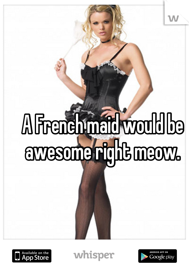 A French maid would be awesome right meow.
