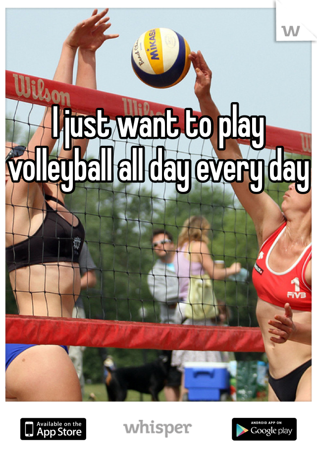 I just want to play volleyball all day every day