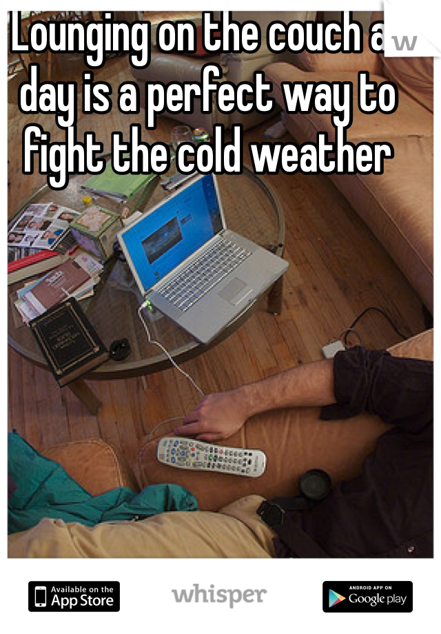 Lounging on the couch all day is a perfect way to fight the cold weather