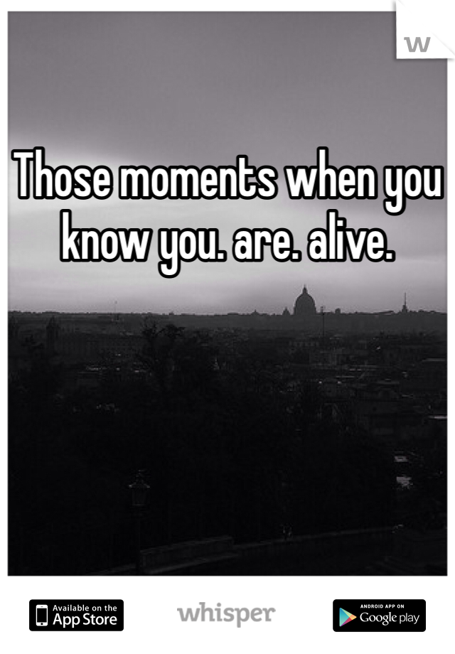 Those moments when you know you. are. alive.