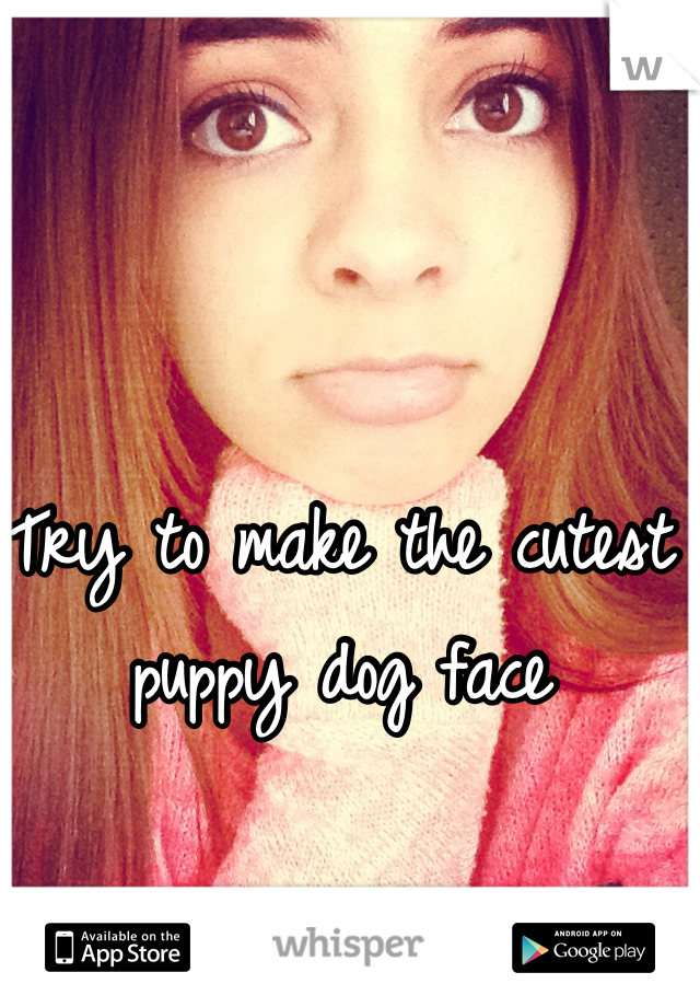 Try to make the cutest puppy dog face