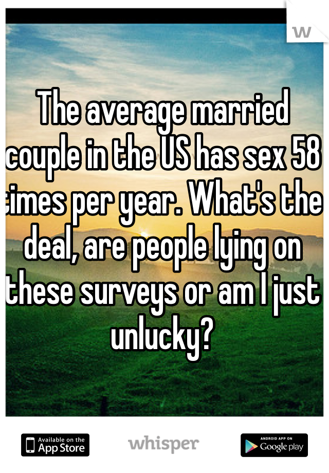 Average married couple have sex