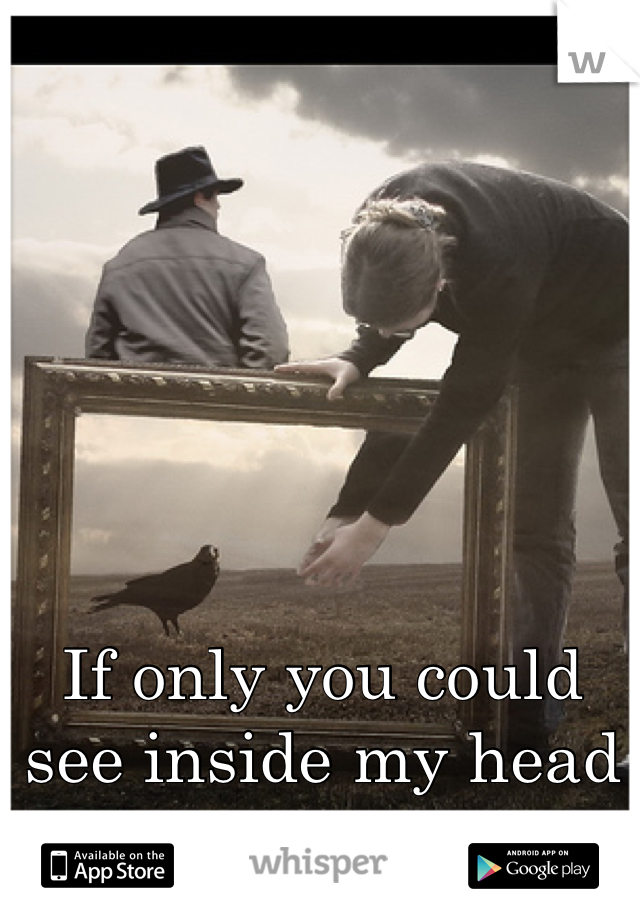 If only you could see inside my head