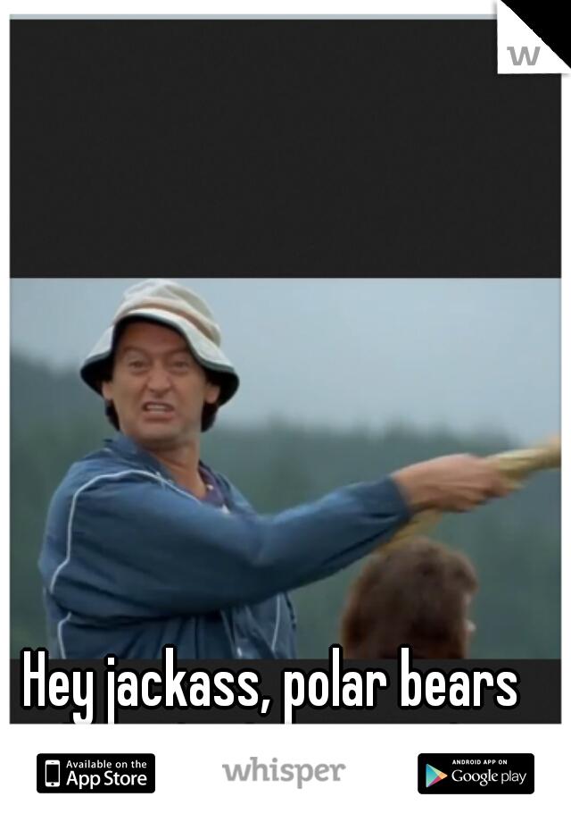 Hey jackass, polar bears don't drink coca-cola.