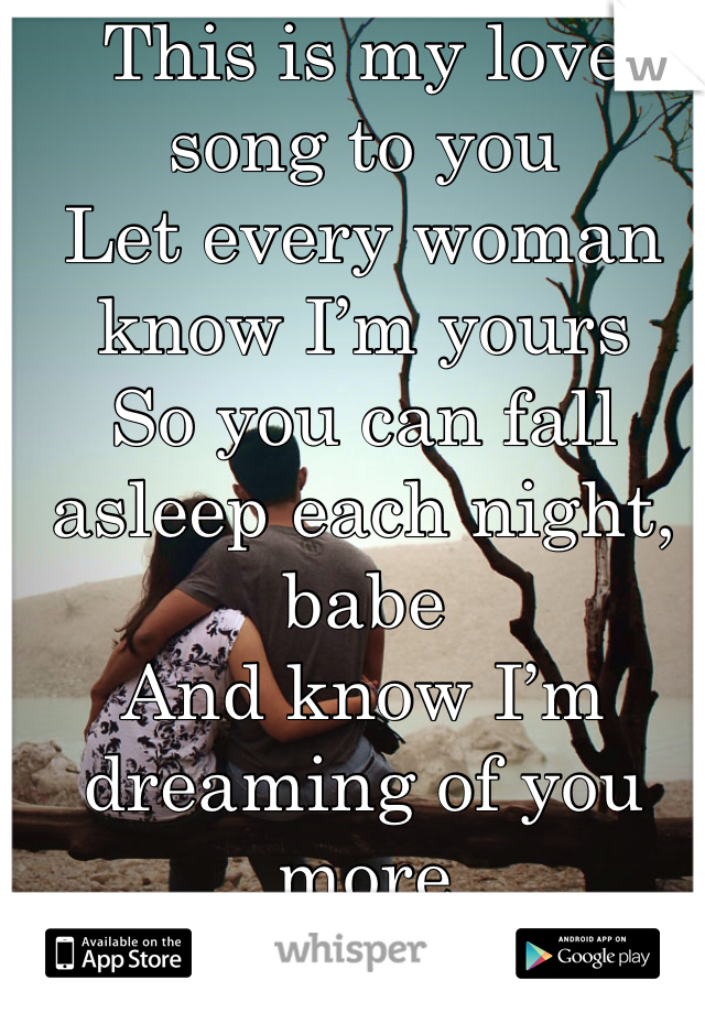 Your the only woman that i really love