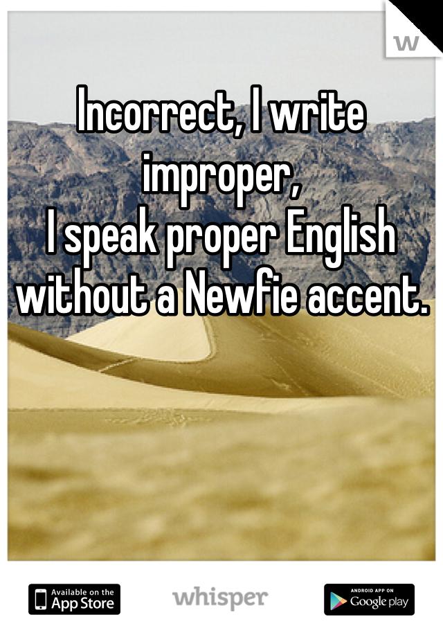 Newfie accent