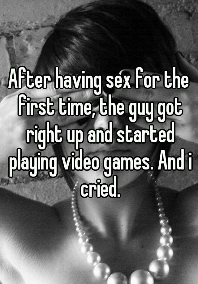guy having sex for first time