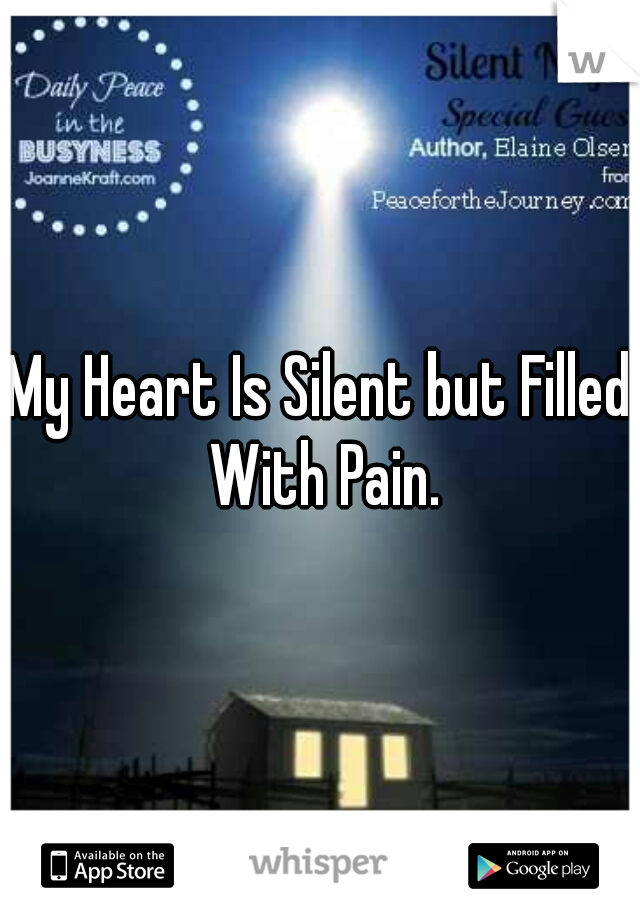 My Heart Is Silent but Filled With Pain.