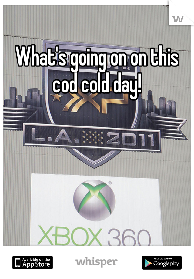 What's going on on this cod cold day!