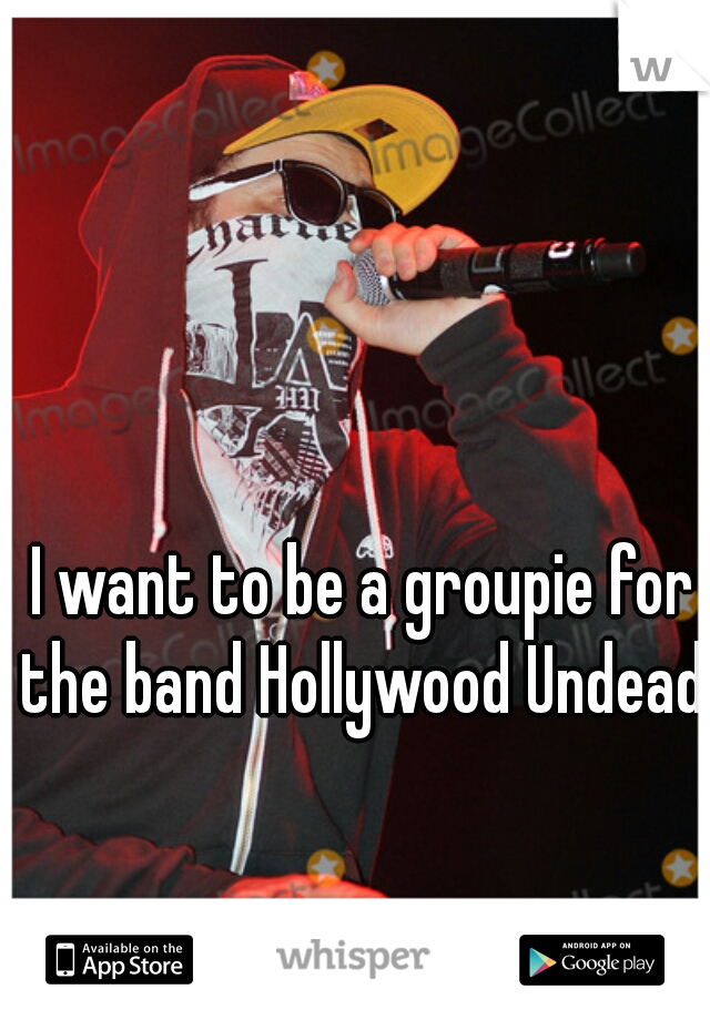 I want to be a groupie for the band Hollywood Undead.