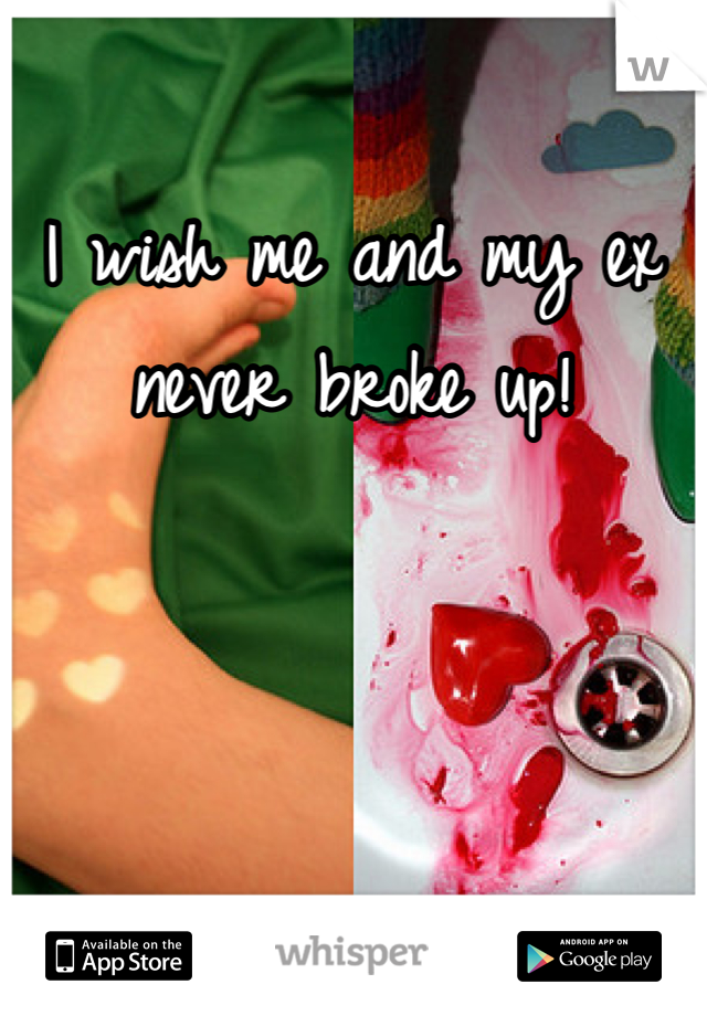 I wish me and my ex never broke up!