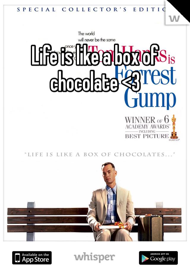 Life is like a box of chocolate <3
