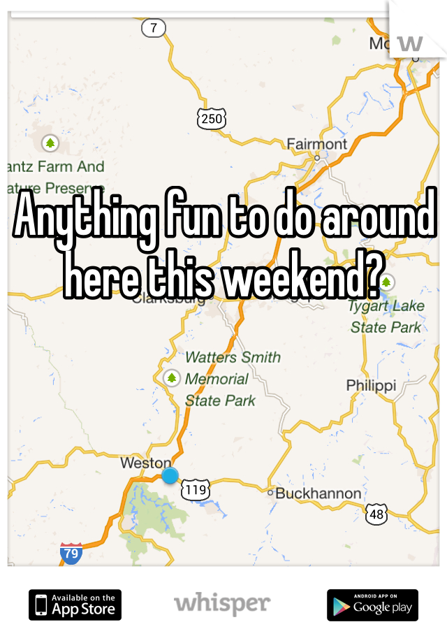 Anything fun to do around here this weekend?