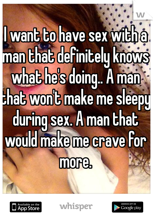 why does sex make me sleepy