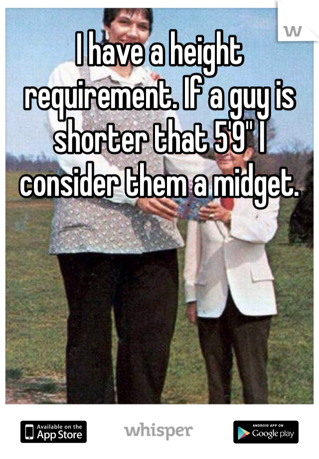 height requirements for a midget