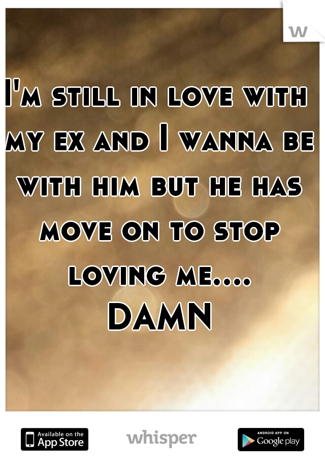 I'm still in love with my ex and I wanna be with him but he has move on to stop loving me.... DAMN