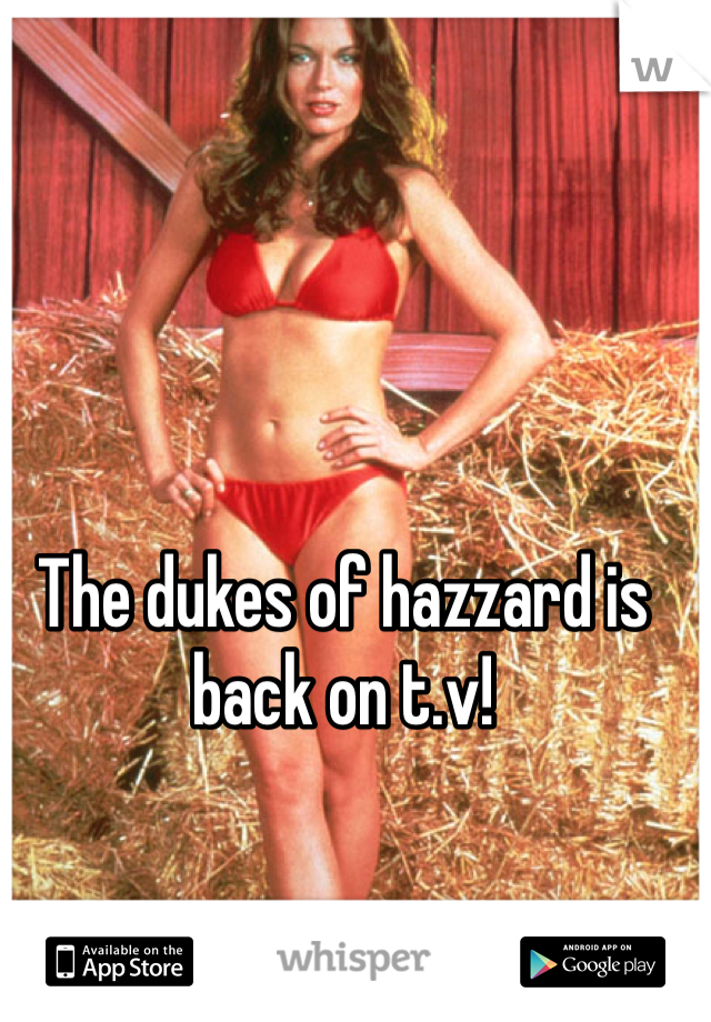 The dukes of hazzard is back on t.v!