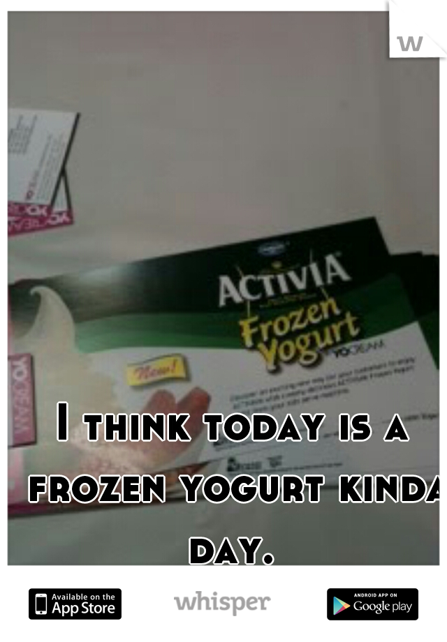 I think today is a frozen yogurt kinda day.