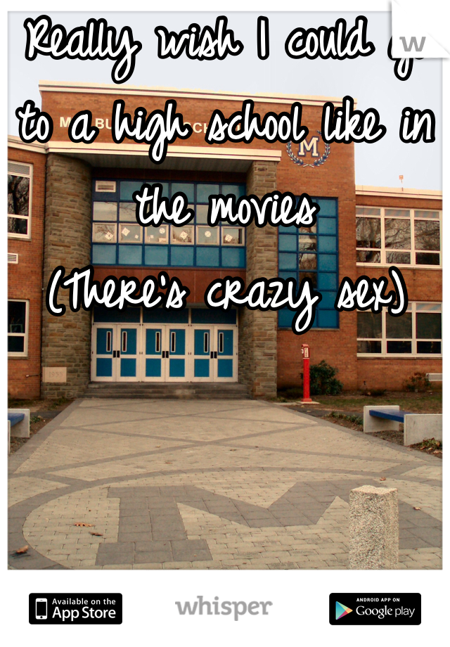 Really wish I could go to a high school like in the movies  (There's crazy sex)