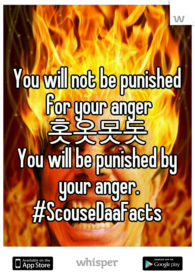 You will not be punished for your anger 홋옷못돗 You will be punished by your anger. #ScouseDaaFacts