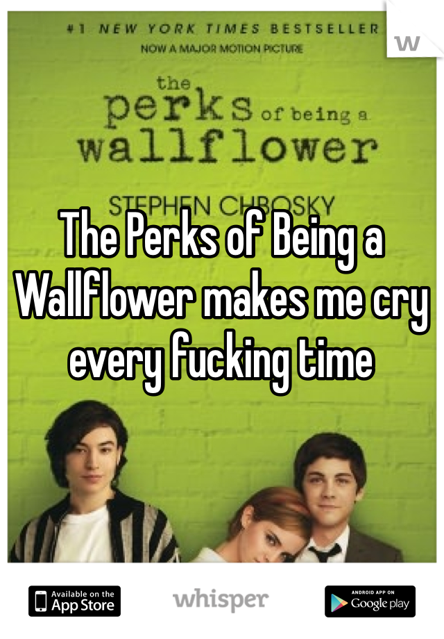 The Perks of Being a Wallflower makes me cry every fucking time