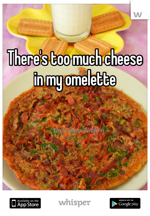There's too much cheese in my omelette