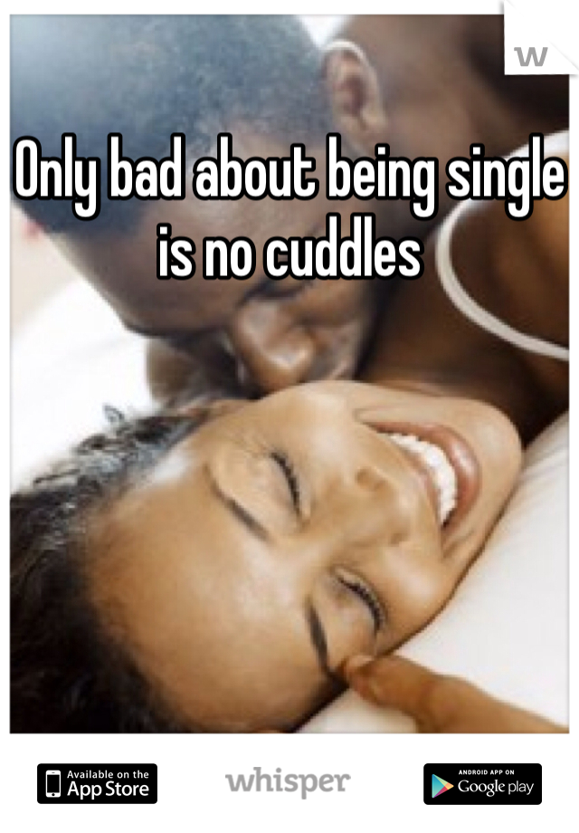 Only bad about being single is no cuddles