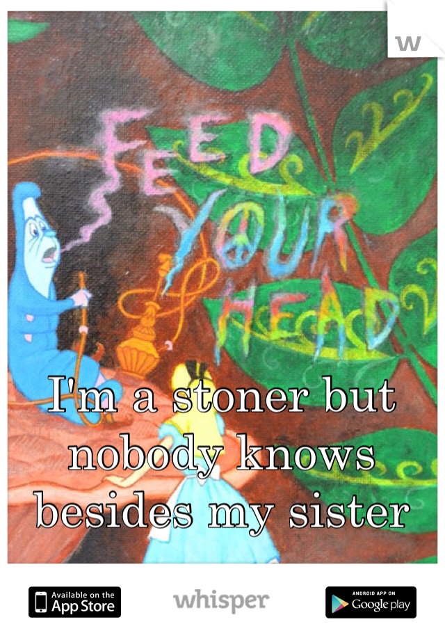 I'm a stoner but nobody knows besides my sister