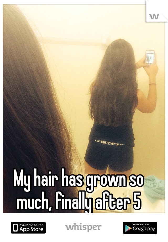 My hair has grown so much, finally after 5 months 💙