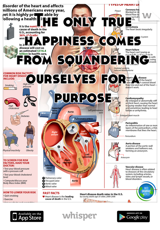 The only true happiness comes from squandering ourselves for a purpose