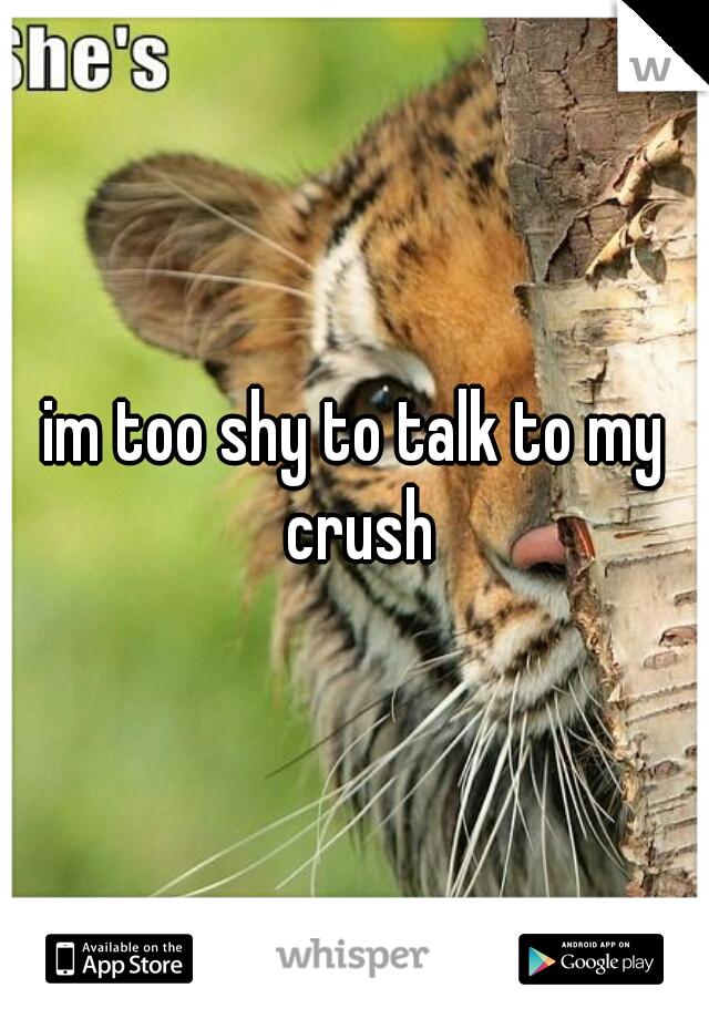 im too shy to talk to my crush