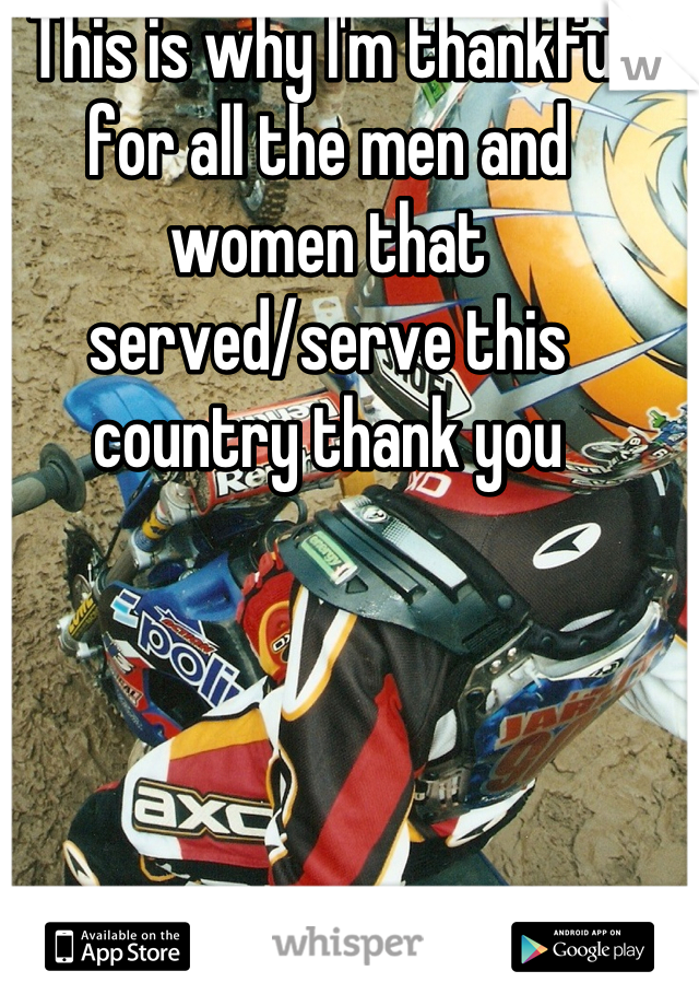 This is why I'm thankful for all the men and women that served/serve this country thank you