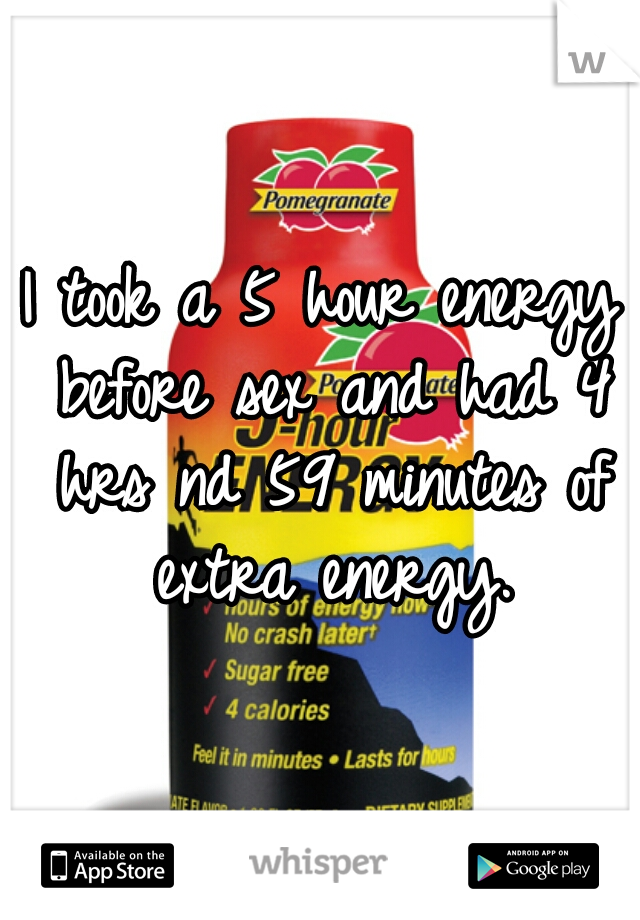 More energy for sex