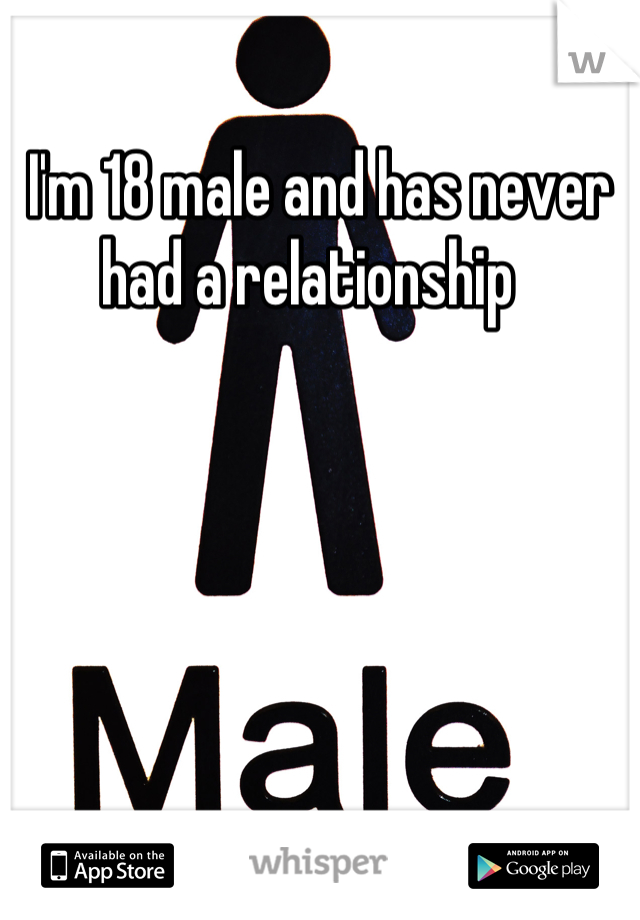I'm 18 male and has never had a relationship