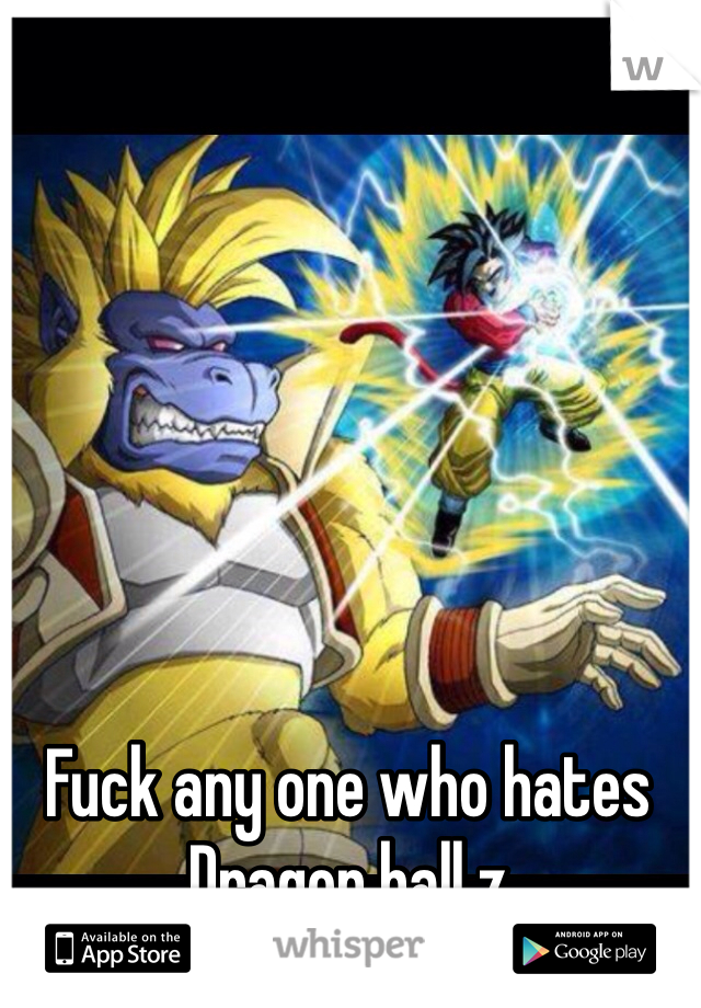 Fuck any one who hates  Dragon ball z