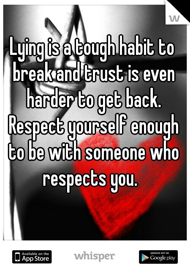 How to break the habit of lying