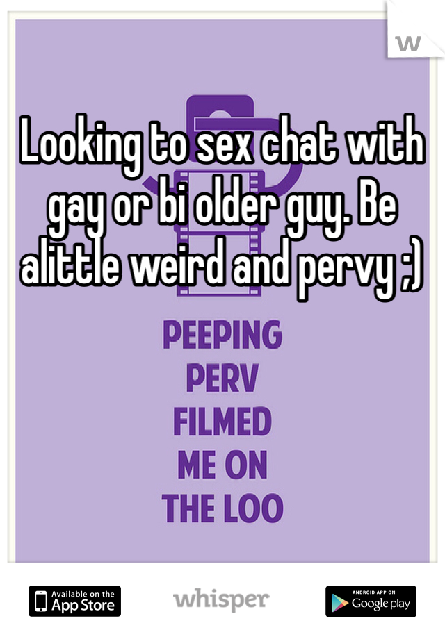 Sex chat with older men